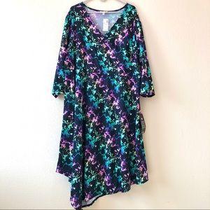 NWT Avenue Faux Wrap Handkerchief Dress 30/32